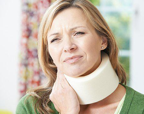 car accident neck pain